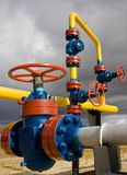Russia. The natural gas production Royalty Free Stock Photo