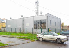 Russia, Nikolskoye autumn 2016 the boiler room which heats the area to the city boiler roomю. Russia, Nikolskoye 2016 boiler boiler room which heats the city Stock Photo