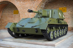 RUSSIA, NIZHNY NOVGOROD - AUG 06, 2014: Soviet self-Propelled artillery mount during the second world war SU-76 Royalty Free Stock Image