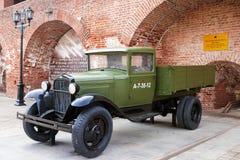 RUSSIA - NIZHNY NOVGOROD MAY 4: GAZ-AA military Truck. An exhibi Royalty Free Stock Image