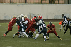Russia - Norway game, American football Stock Image