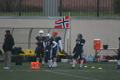 Russia - Norway game, American football Royalty Free Stock Photography