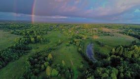 Russia, Novgorod region (Aerial Drone flights) stock video