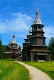 Russia, Novgorod Region, Museum of Wooden Architecture Vitoslavlitsy. At summer Royalty Free Stock Photo