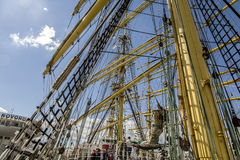 Russia. Novorossiysk. Regatta of the great sailing ships. Race through the Black Sea. Stock Photos