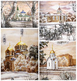 Russia, Novosibirsk, churchs Stock Photography