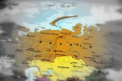 Russian Federation - map of Russia royalty free stock images