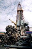 Russia. Oil production stock photo