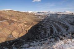 Russia. Old derelict uranium quarry stock images