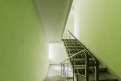 Russia, Omsk- August 05, 2019: interior room apartment. public place, staircase