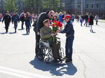 RUSSIA, OMSK, MAY,9,2014: Victory day. Stock Photography