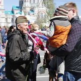 RUSSIA, OMSK, MAY,9,2014: Victory day. Royalty Free Stock Image