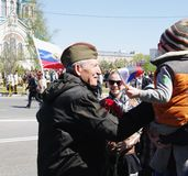 RUSSIA, OMSK, MAY,9,2014: Victory day. Stock Images