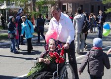 RUSSIA, OMSK, MAY,9,2014: Victory day. Stock Image