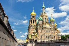 Russia Orthodox Church Spas na Krovi, St. Petersburg Royalty Free Stock Image