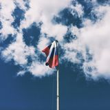Russia!. Our flag is beautiful Stock Photo