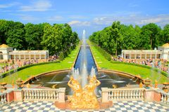 Russia Palace. The beautiful palace in Russia Royalty Free Stock Photo