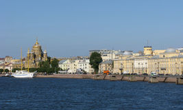 Russia. Panorama of Vasilievsky Island in Saint Petersburg. Royalty Free Stock Photography
