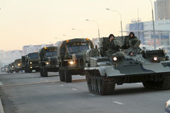 Russia Parade Rehearsal stock image