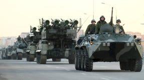 Russia Parade Rehearsal stock photography