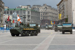 Russia Parade rehearsal Stock Images