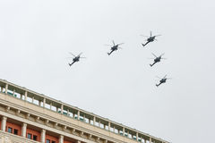 Russia Parade rehearsal Stock Photography