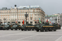 Russia Parade rehearsal Royalty Free Stock Photos