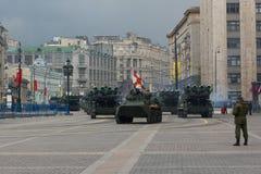 Russia Parade rehearsal Stock Image
