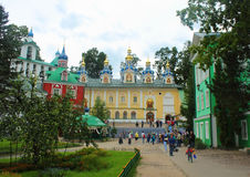 Russia, Pechory. The holy dormition Pskov-Caves Monastery. Stock Image