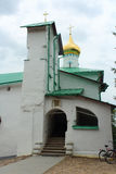 Russia, Pechory. St. Nicholas Church of the Pskov-Caves Monastery. Royalty Free Stock Images