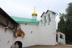 Russia, Pechory. St. Nicholas Church of the Pskov-Caves Monastery. Royalty Free Stock Image
