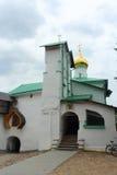 Russia, Pechory. St. Nicholas Church of the Pskov-Caves Monastery. Stock Image