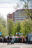 RUSSIA, PENZA - MAY 1: May Day demonstration Royalty Free Stock Photo