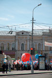 RUSSIA, PENZA - MAY 1: May Day demonstration Royalty Free Stock Photography