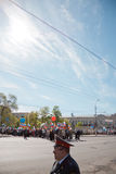 RUSSIA, PENZA - MAY 1: May Day demonstration Stock Photography