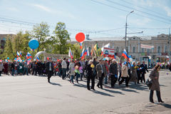 RUSSIA, PENZA - MAY 1: May Day demonstration Stock Photo