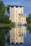 Russia, Peterhof (Petrodvorets). Olga's Pavilion on  island in Olga's pond Royalty Free Stock Image