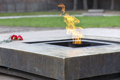 Russia. Petersburg. Field of Mars. Eternal flame Stock Photos