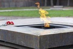 Russia. Petersburg. Field of Mars. Eternal flame Stock Photos