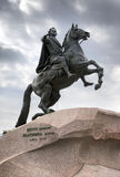 Russia. Petersburg. Monument to tsar Peter , Bronze Horseman. Stock Photos