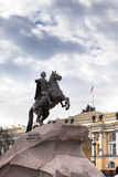 Russia. Petersburg. Monument to tsar Peter , Bronze Horseman. Royalty Free Stock Images