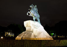 Russia. Petersburg. Monument to tsar Peter 1, Bronze Horseman. Stock Photos