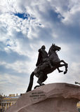 Russia. Petersburg. Monument to tsar Peter 1, Bronze Horseman. Royalty Free Stock Images