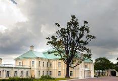 Russia. Petersburg. Oranienbaum (Lomonosov). lower park. Big Menshikovsky palace. Time lapse Royalty Free Stock Image