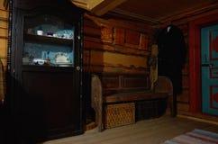 Russia. Petrozavodsk. Sheltozero Veps Ethnographic Museum named after R. P. Lonin. Interior decoration of the house. Nove. Russia. Karelia. Petrozavodsk Stock Photos