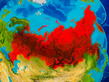Russia on physical map Royalty Free Stock Photography