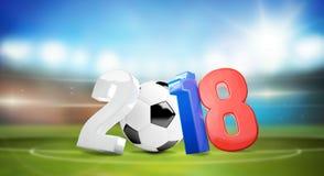 2018 Russia piłki nożnej stadion futbolowy 3d odpłaca się Zdjęcia Stock