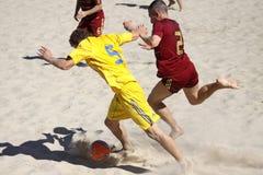 russia plażowa gemowa piłka nożna Ukraine Zdjęcie Stock
