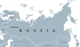 Russia political map Stock Photo