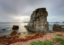 Russia, Primorye, sunset rock Royalty Free Stock Photography